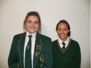 Grade 11: Jannemari Fourie, Diney Fielding (Top Achiever)