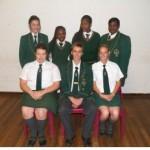 Grade 11; Front: Mary-Ann Fritz, Cor Roos, Jessica vd Bank Rear: Maureen vd Walt, Khatu Maiwashe, Fhulu Managa, Sabina Madima