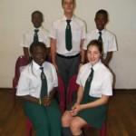 Grade 8: Front:  Blessing Makhado, Maricelle Geyer Rear: Tshililo Ndlovhu, Mias Cronje, Onkarabetse Machimana