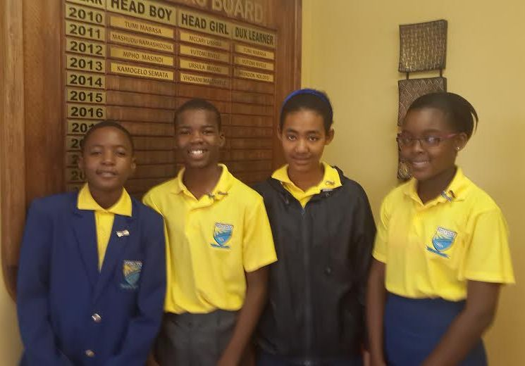 Head boy, head girl, deputy head boy & deputy head girl - 2014