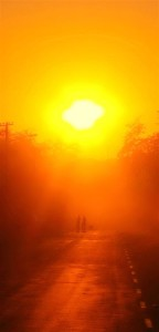 Sunrise in Harry Townsend St., Musina